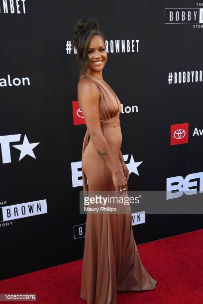 Alyssa Goss arrives at the premiere screening of The Bobby Brown Story presented by BET and Totota at Paramount Theater on the Paramount Studios lot...
