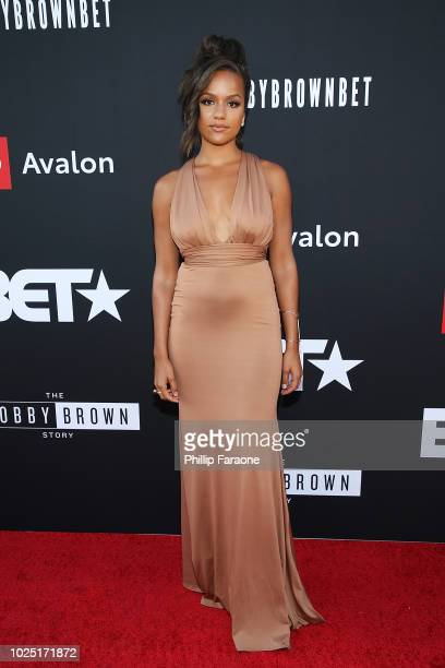 Alyssa Goss attends BET and Toyota present the premiere screening of The Bobby Brown Story at Paramount Theatre on August 29 2018 in Hollywood...