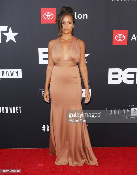 Alyssa Goss attends the Los Angeles premiere screening of The Bobby Brown Story held at Paramount Theatre on August 29 2018 in Hollywood California