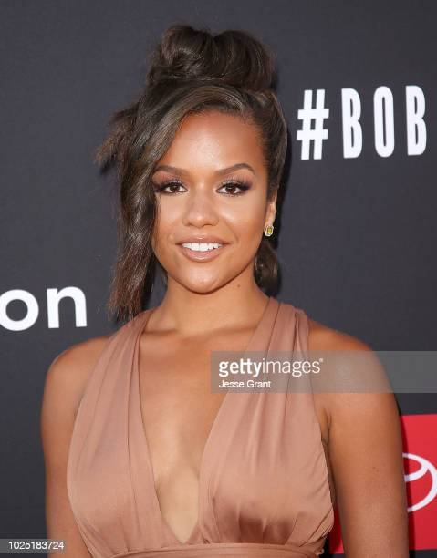 Alyssa Goss attends the premiere screening of The Bobby Brown Story presented by BET and Toyota at the Paramount Theatre on August 29 2018 in...