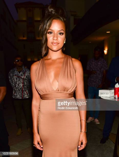 Alyssa Goss poses for portrait at the premiere screening of The Bobby Brown Story after party at Paramount Theatre on August 29 2018 in Hollywood...