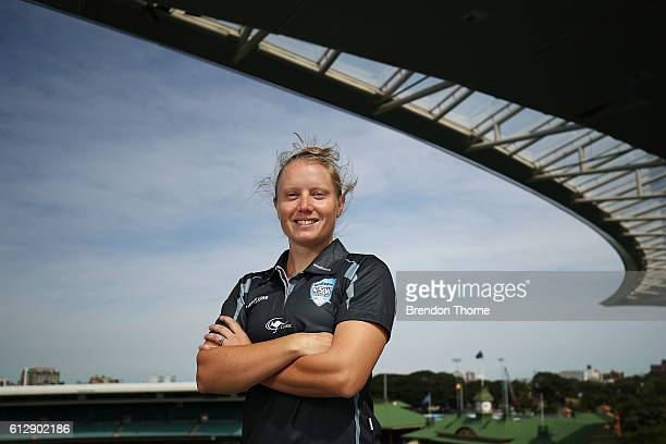 Alyssa Healy of the Breakers poses during a Cricket NSW media opportunity at Sydney Cricket Ground on October 6 2016 in Sydney Australia