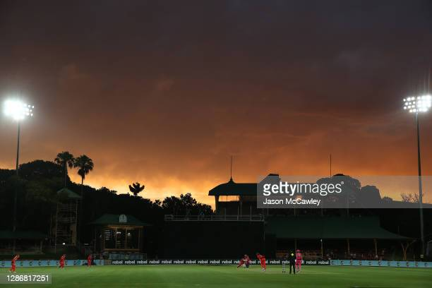 Alyssa Healy of the Sixers bats during the Women's Big Bash League WBBL match between the Sydney Sixers and the Melbourne Renegades at North Sydney...