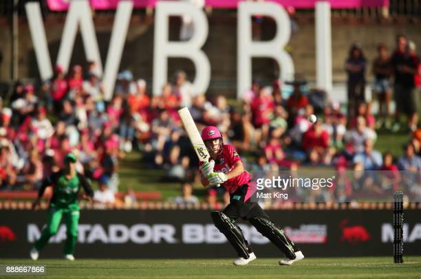 Alyssa Healy of the Sixers bats during the Women's Big Bash League WBBL match between the Sydney Sixers and the Melbourne Stars at North Sydney Oval...