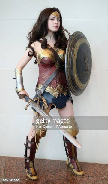 Alyssa Heffernan as Wonder Woman at the annual Comic Con at the Dublin Convention Centre