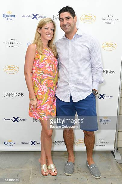 Alyssa Herman and Michael Daniels attend the Hamptons Magazine Celebrates With Cover Stars Jonathan Adler And Simon Doonan at Day Lily Estate on...