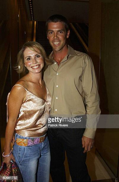 Alyssa Jane Cook and Gary Davis at A Night with the Stars an annual charity event held at the Westin in Sydney to raise funds for the Millennium...
