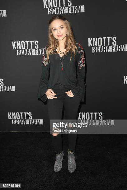 Alyssa Jirrels attends the Knott's Scary Farm and Instagram's Celebrity Night at Knott's Berry Farm on September 29 2017 in Buena Park California