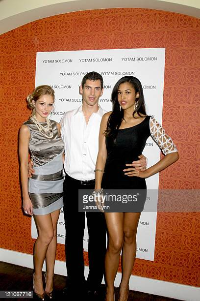 Alyssa Juliya Smith Yotam Solomon and Kali Hawk arrive at Yotam Solomon's ''Shining Through'' collection at Chateau Marmont on October 21 2009 in Los...
