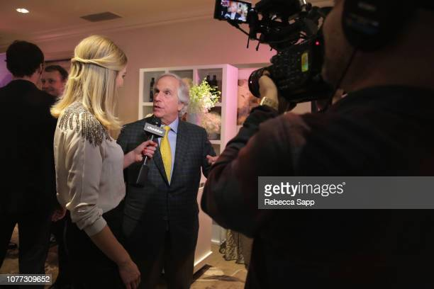 Alyssa Julya Smith and Henry Winkler attend HBO LUXURY LOUNGE Presented By Obliphica Professional Day 1 on January 4 2019 in Beverly Hills California