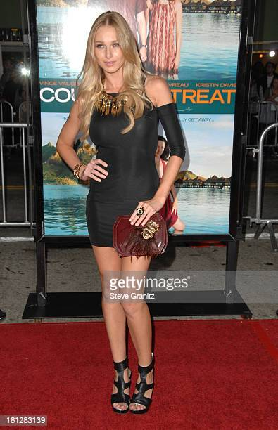 Alyssa Julya Smith arrives at the Los Angeles premiere of 'Couples Retreat' at the Mann's Village Theatre on October 5 2009 in Westwood California