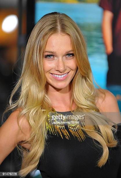 Alyssa Julya Smith arrives at the Los Angeles premiere of 'Couples Retreat' held the Mann's Village Theatre on October 5 2009 in Westwood California
