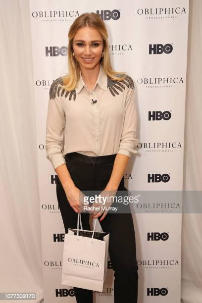 Alyssa Julya Smith attends HBO LUXURY LOUNGE Presented By Obliphica Professional Day 1 on January 4 2019 in Beverly Hills California