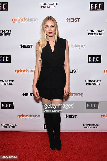 Alyssa Julya Smith attends the Screening of Lionsgate's 'Heist' at Sundance Cinemas on November 9 2015 in West Hollywood California