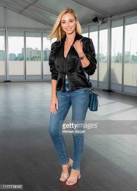Alyssa Julya Smith wearing custom Jewelry by Jimeye Designs at TAP visits The McCord List on September 27 2019 in Los Angeles California