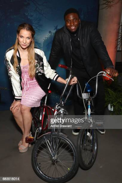 Alyssa Kempinski and Okieriete Onaodowan attend the Entertainment Weekly and PEOPLE Upfronts party presented by Netflix and Terra Chips at Second...