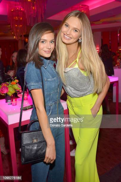 Alyssa Lynch and Romee Strijd attend Victoria's Secret Angels Jasmine Tookes and Romee Strijd Share The Perfect Gifts for Valentine's Day on February...
