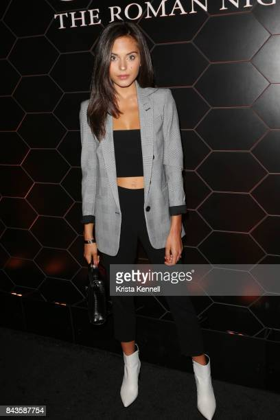 Alyssa Lynch attends Bulgari 'Goldea The Roman Night' Fragrance Launch Party at The 1 Rooftop on September 6 2017 in the Brooklyn borough of New York...