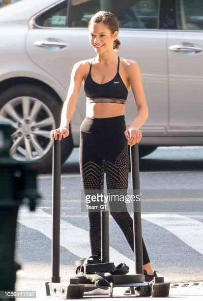 Alyssa Lynch is seen on November 1 2018 in New York City