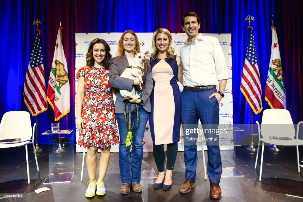 Actress/Activist Alyssa Milano Moderates 25th Congressional District Democratic Candidate Debate Presented By NextGen America : News Photo