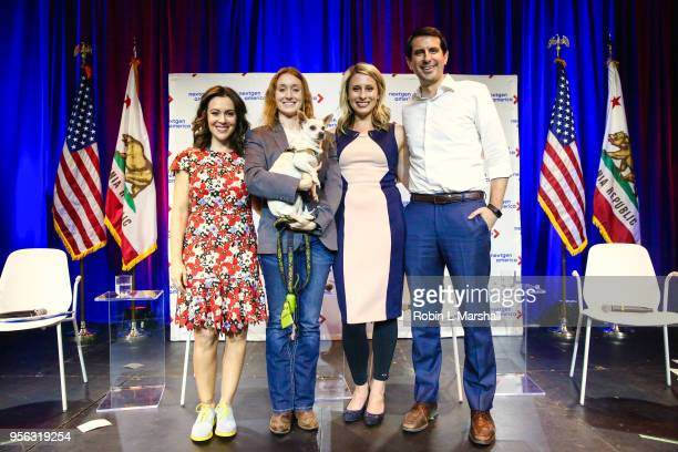 Alyssa Malino Jess Phoenix Katie Hill and Bryan Caforio attend the 25th Congressional District Democratic Candidate Debate Presented by NextGen...