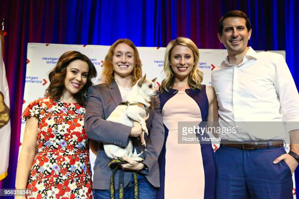 Alyssa Malino Jess Phoenix Katie Hill and Bryan Caforio attend the 25th Congressional District Democratic Candidate Debate Presented by NextGen...
