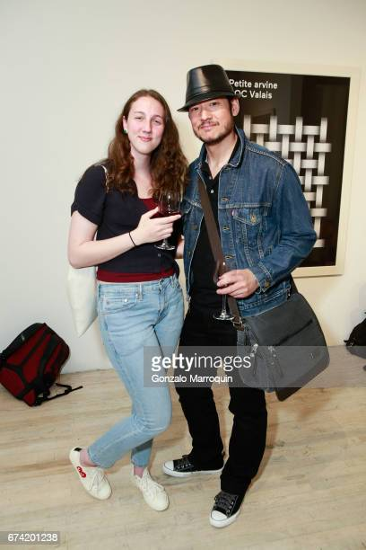 Alyssa Mcadam and Kid Lew attend the Swiss Wine Valais Loves New York hosted by Gregory de la Haba Billy The Artist Anthony HadenGuest and Raul...