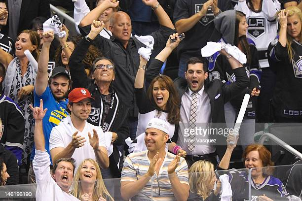 Alyssa Milano and David Bugliari attend game six of the 2012 Stanley Cup Final between the Los Angeles Kings and the New Jersey Devils at Staples...