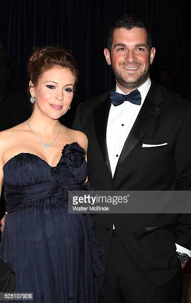 Alyssa Milano and David Bugliari attending the White House Correspondents' Association dinner at the Washington Hilton Hotel in Washington DC