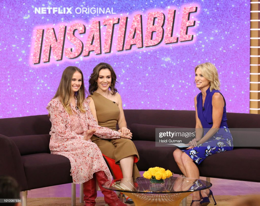 AMERICA - Alyssa Milano and Debby Ryan are guests on 'Good Morning America,' on Monday, August 8, 2018 on the ABC Television Network. DEBBY