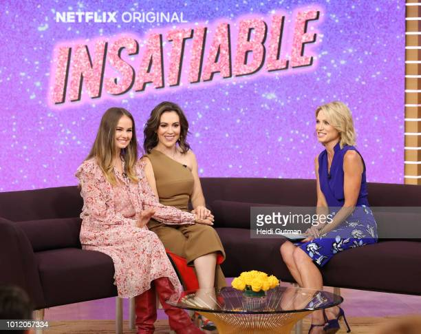 AMERICA Alyssa Milano and Debby Ryan are guests on Good Morning America on Monday August 8 2018 on the Walt Disney Television via Getty Images...