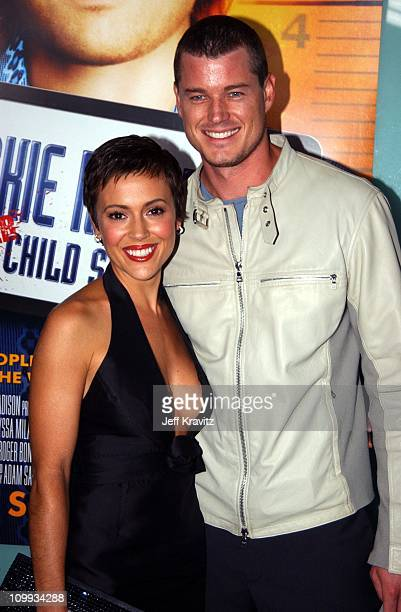 Alyssa Milano and Eric Dane during World Premiere of Dickie Roberts Former Child Star at Cinerama Dome in Hollywood California United States