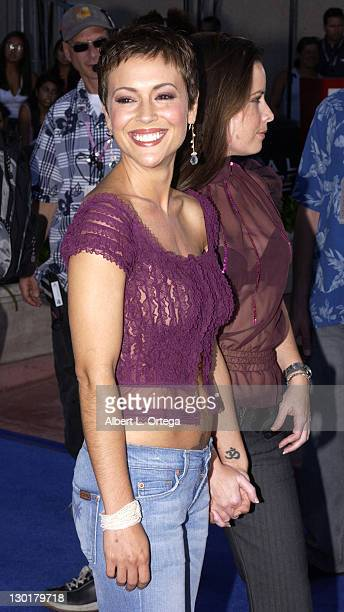 Alyssa Milano and Holly Marie Combs during 2003 Teen Choice Awards Arrivals at Universal Amphitheatre in Universal City California United States