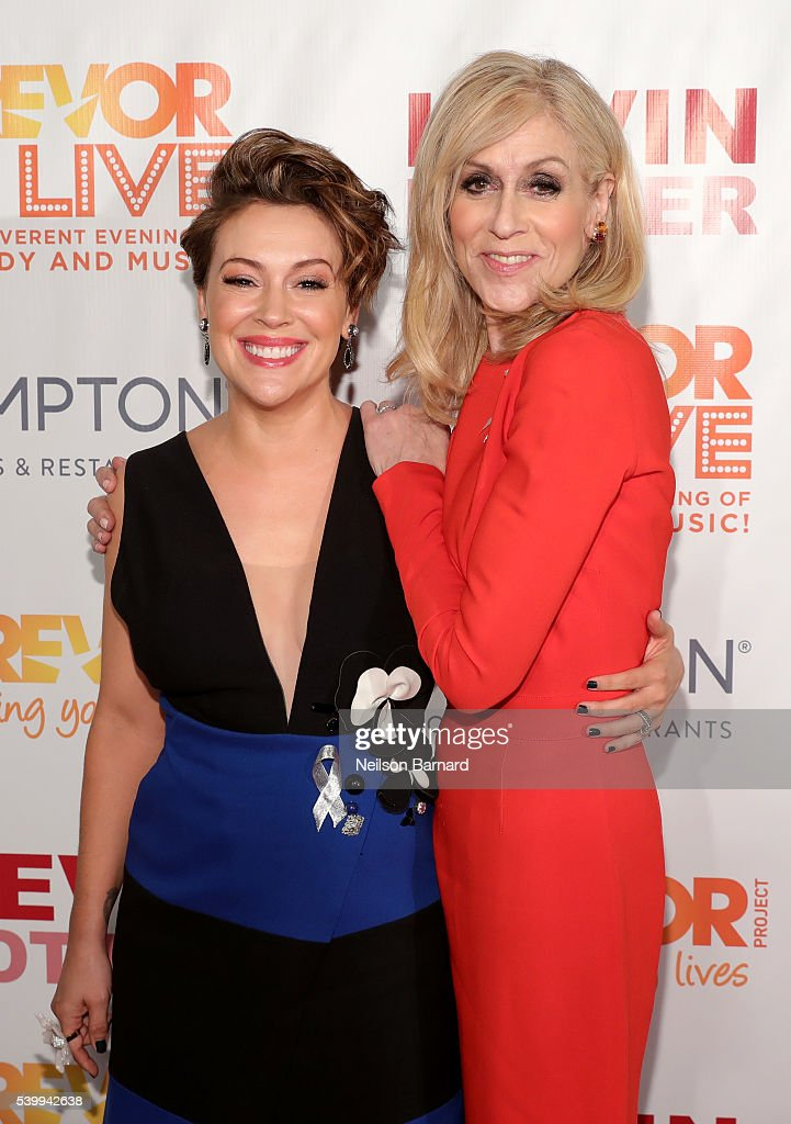 Alyssa Milano and Judith Light attend The Trevor Project's TrevorLIVE New York on June 13, 2016 in New York City.