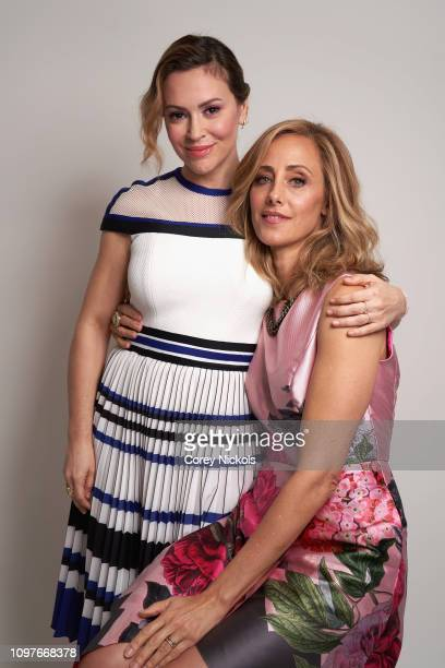 Alyssa Milano and Kim Raver pose for a portrait during the 2019 Winter TCA at The Langham Huntington Pasadena on February 10 2019 in Pasadena...