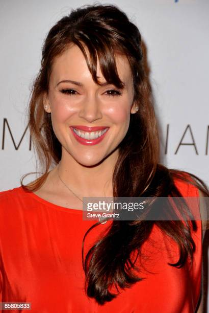 Alyssa Milano arrives at the Children Mending Hearts Gala at the House Of Blues on February 18 2009 in Los Angeles California
