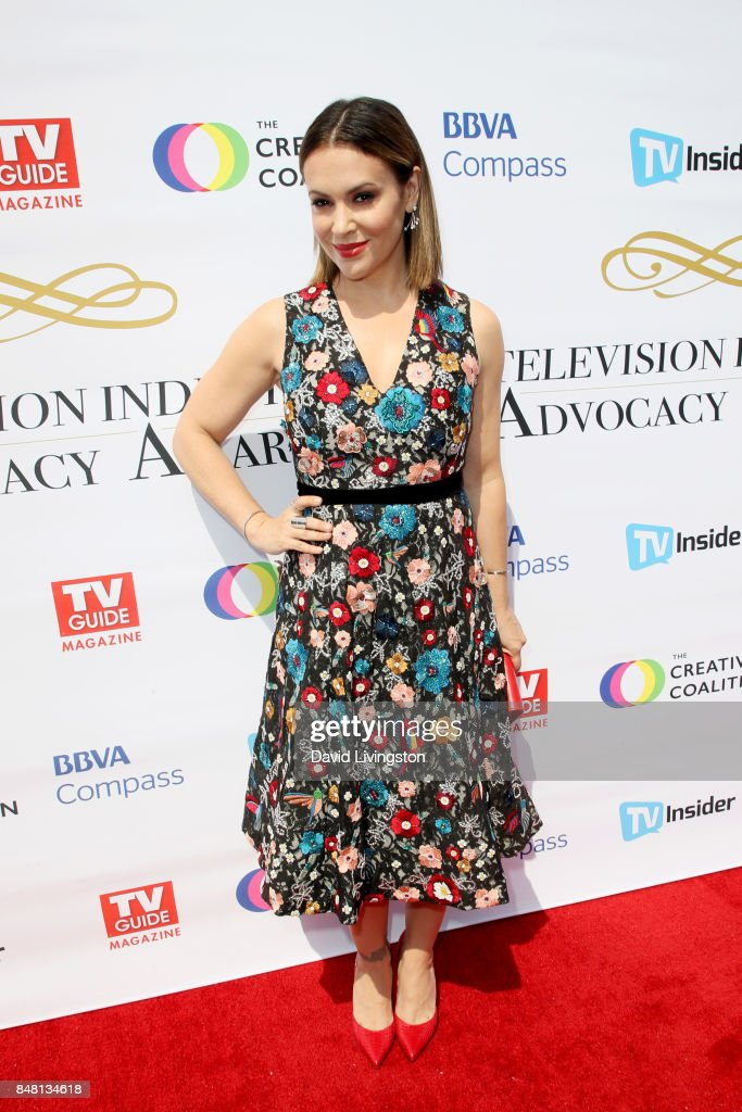 Alyssa Milano at the Television Industry Advocacy Awards at TAO Hollywood on September 16, 2017 in Los Angeles, California.