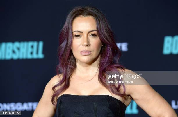 "Alyssa Milano attends a Special Screening of Liongate's ""Bombshell"" at Regency Village Theatre on December 10, 2019 in Westwood, California."