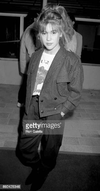 Alyssa Milano attends 'Hail Hail Rock N Roll' Premiere on October 8 1987 at AMC Theater in Century City California