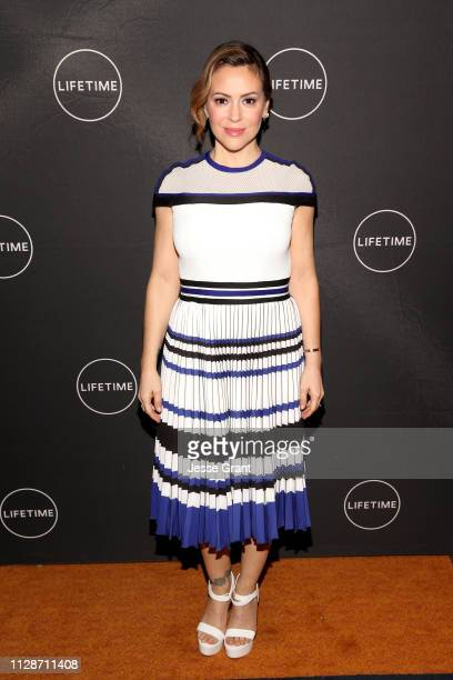 Alyssa Milano attends Lifetime's Female Directors and Leading Actresses 2019 Winter Television Critics Association Press Tour at The Langham...