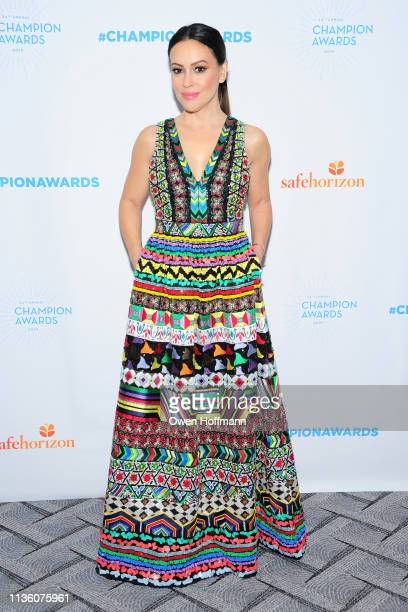 Alyssa Milano attends Safe Horizon's Champion Awards at The Ziegfeld Ballroom on April 9 2019 in New York City