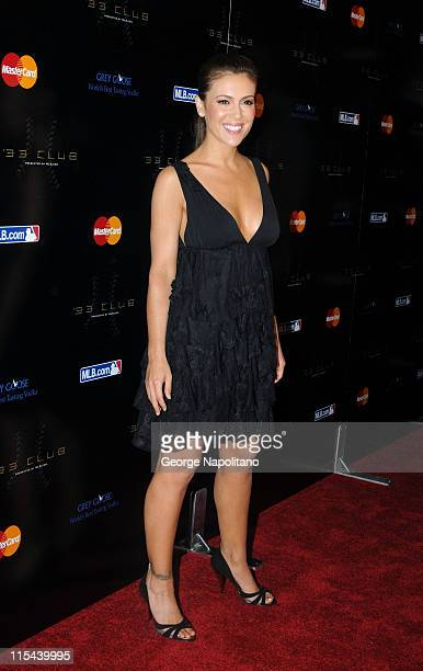 Alyssa Milano attends the 33 Club Party presented by MLBCOM as part of the 2008 MLB AllStar Week at Roseland on July 13 2008 in New York City
