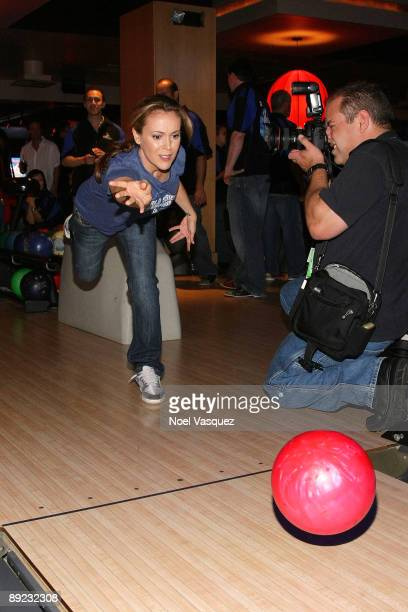 Alyssa Milano attends the 5th annual state farm Dodgers Dream Foundation bowling extravaganza at Lucky Strike Lanes on July 23 2009 in Los Angeles...