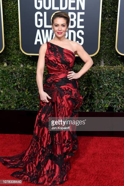 Alyssa Milano attends the 76th Annual Golden Globe Awards at The Beverly Hilton Hotel on January 6, 2019 in Beverly Hills, California.