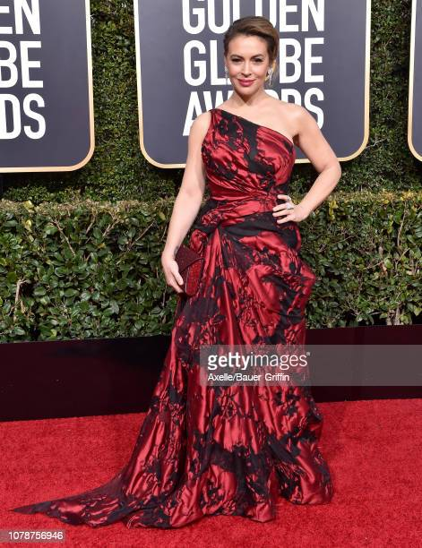 Alyssa Milano attends the 76th Annual Golden Globe Awards at The Beverly Hilton Hotel on January 6 2019 in Beverly Hills California