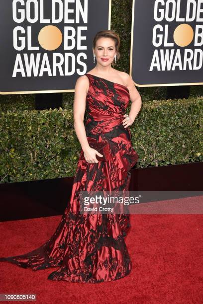 Alyssa Milano attends the 76th Annual Golden Globe Awards at The Beverly Hilton Hotel on January 06 2019 in Beverly Hills California
