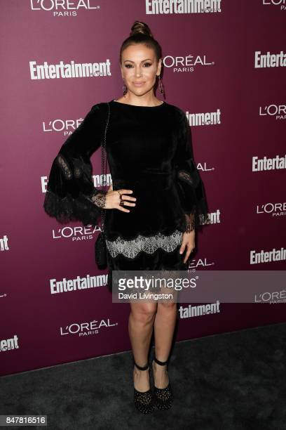 Alyssa Milano attends the Entertainment Weekly's 2017 PreEmmy Party at the Sunset Tower Hotel on September 15 2017 in West Hollywood California