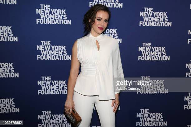 Alyssa Milano attends The New York Women's Foundation Radical Generosity Gala at The Plaza on October 15 2018 in New York City