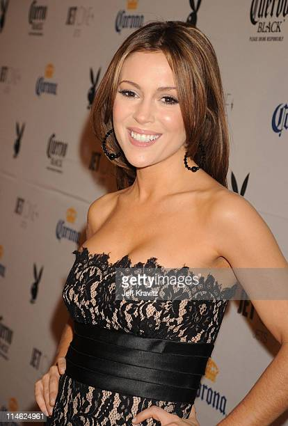 Alyssa Milano attends the Playboy's Super Saturday Night Party during Super Bowl Weekend on February 2 2008 in Phoenix Arizona