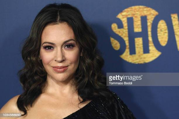 Alyssa Milano attends the Showtime Emmy Eve Nominees Celebration at Chateau Marmont on September 16 2018 in Los Angeles California